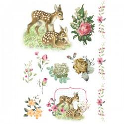 דקאלים - פרחים ובמבי